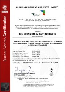 ISO Certificate 2021